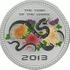 Монета Змея с хризантемами